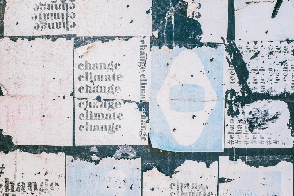 white change posters on wall